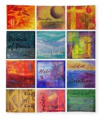 Names Of God Fleece Blanket