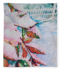 Nandina In Snow Fleece Blanket