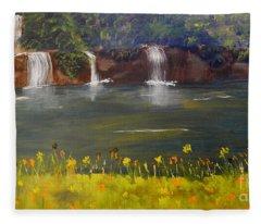 Nandroy Falls In Queensland Fleece Blanket