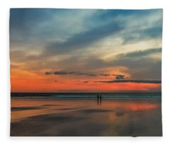 Nantasket Beach Sunrise Fleece Blanket