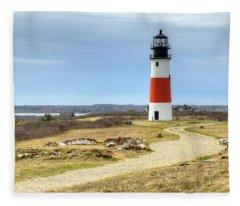 Nantucket's Sankaty Head Light Fleece Blanket