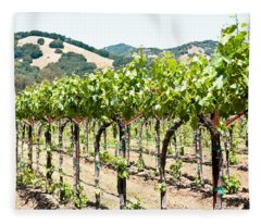 Napa Vineyard Grapes Fleece Blanket