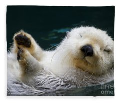 Napping On The Water Fleece Blanket