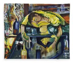 Narcisisstic Wine Bar Experience - After Caravaggio Fleece Blanket