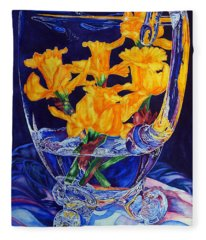 Narcisses Dans Un Vase From Master Class Fleece Blanket