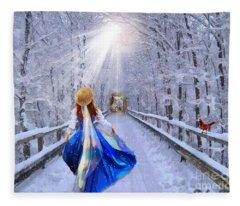 Narrow Gate Fleece Blanket