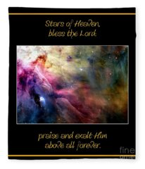 Nasa Ll Ori And The Orion Nebula Stars Of Heaven Bless The Lord Fleece Blanket
