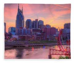 Nashville Sunset Fleece Blanket