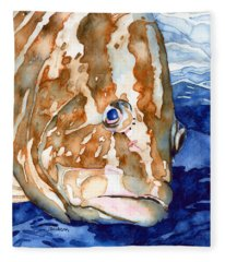 Nassau Grouper Portrait Fleece Blanket