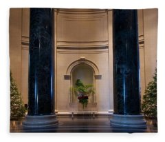 National Gallery Of Art Christmas Fleece Blanket