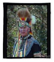 Native American Portrait Fleece Blanket