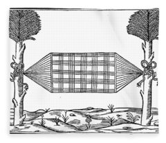 Native Americans Hammock, 1547 Fleece Blanket