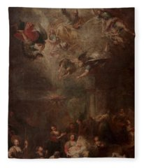 Nativity Of Mary Fleece Blanket
