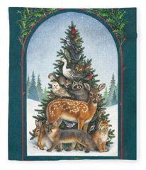 Nature's Christmas Tree Fleece Blanket