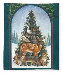 Nature's Christmas Tree Fleece Blanket