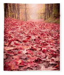Nature's Red Carpet Revisited Fleece Blanket