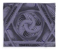 Nautical Coloured Design Fleece Blanket