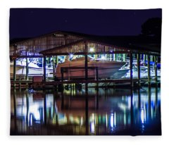 Nautical Lights Fleece Blanket