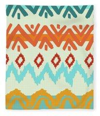 Southwest Pattern I Fleece Blanket