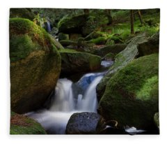 near the Brocken, Harz Fleece Blanket