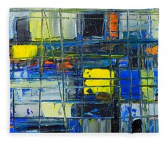 Near The Sunrise - Abstract Original Painting - Abwgc1 Fleece Blanket