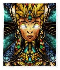 Nefertiti Fleece Blanket