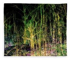 Negative Forest Fleece Blanket