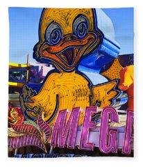 Neon Duck Fleece Blanket