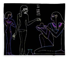 Neon Egyptian Princess Fleece Blanket