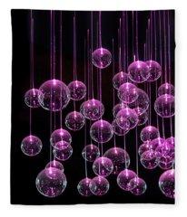 Neon Pink Photographs Fleece Blankets