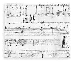 Nerve Structure Of The Retina Fleece Blanket