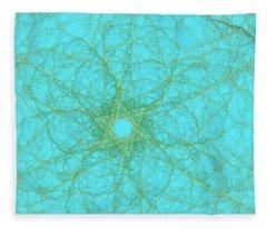 Nerves Green Blue Fleece Blanket