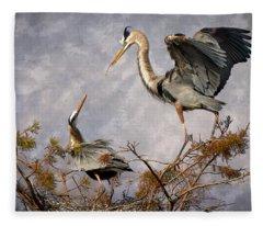 Nesting Time Fleece Blanket
