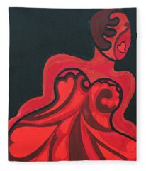 Never A Flaw My Funny Valentine Fleece Blanket