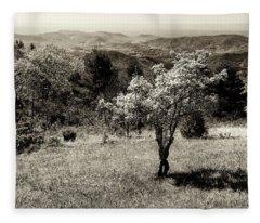 New Blooms In North Carolina Fleece Blanket