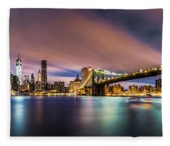 New Dawn Over New York Fleece Blanket