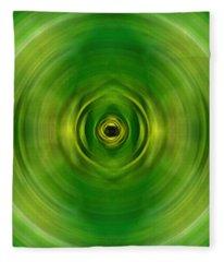 New Growth - Green Art By Sharon Cummings Fleece Blanket