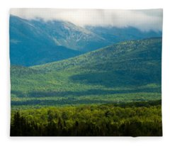 New Hampshire Mountainscape Fleece Blanket