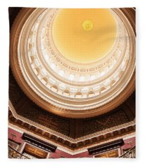 New Jersey Statehouse Dome Fleece Blanket