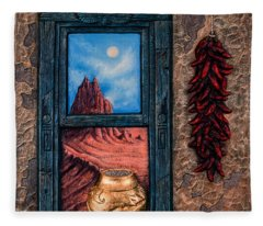 New Mexico Window Gold Fleece Blanket