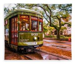 New Orleans Classique Oil Fleece Blanket