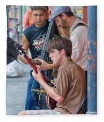 New Orleans Street Trio Fleece Blanket
