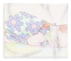 New Photographic Art Print For Sale Baby Girl Fleece Blanket