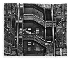 New Photographic Art Print For Sale Bradbury Building Downtown La Fleece Blanket