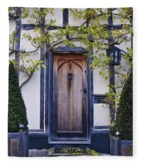 New Photographic Art Print For Sale Doorway 2 In Medieval Lavenham Fleece Blanket