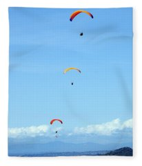 New Photographic Art Print For Sale Hanggliding 11 Fleece Blanket
