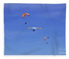 New Photographic Art Print For Sale Hanggliding 12 Fleece Blanket