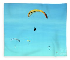New Photographic Art Print For Sale Hanggliding 3 Fleece Blanket
