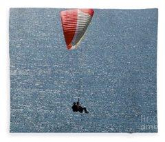 New Photographic Art Print For Sale Hanggliding 8 Fleece Blanket