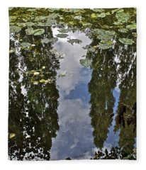 Reflections Amongst The Lily Pads Fleece Blanket